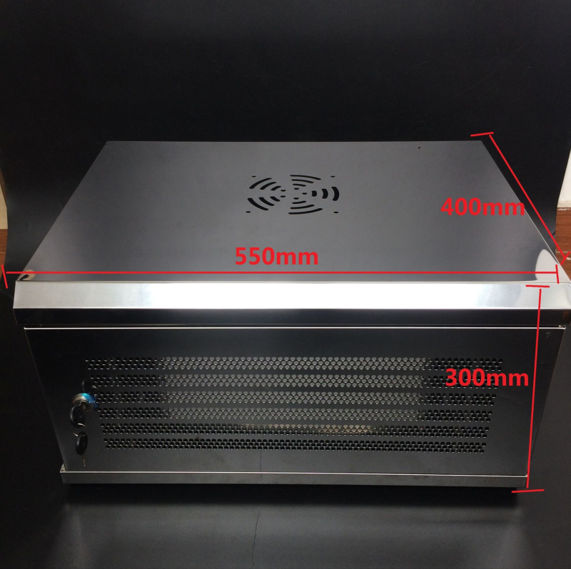 6U不锈钢组装型550*400*300MM监控网络机柜 一件5个装 豪华机柜