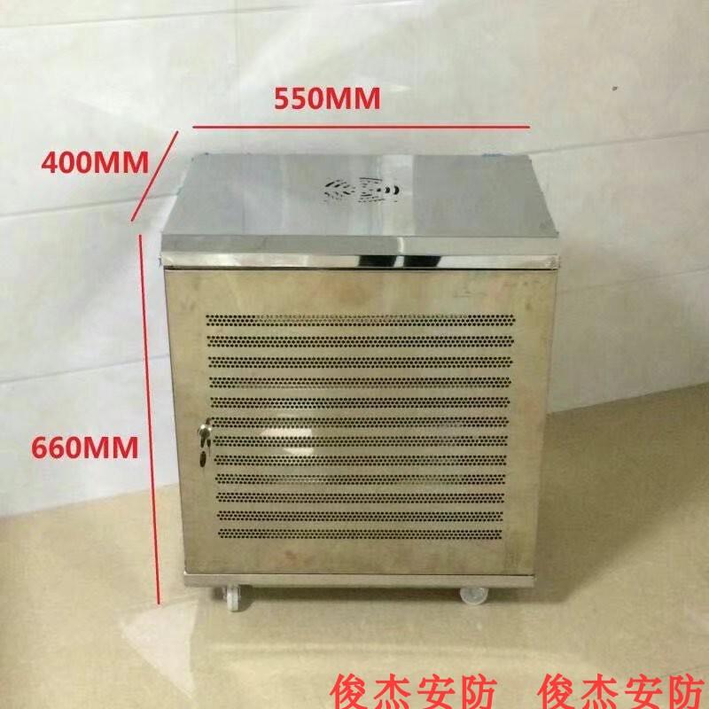 不锈钢机柜 12U0.6米 拼装机柜 网络 弱电箱 监控 550*400*660